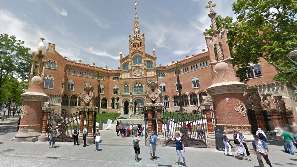 Hospital Sant Pau de Barcelona, donde está ingresada la menor con meningitis vírica.