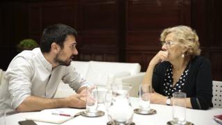 Ramón Espinar y Manuela Carmena.