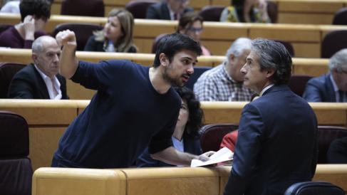 Ramón Espinar, portavoz de Podemos en el Senado. (Foto: Flickr)