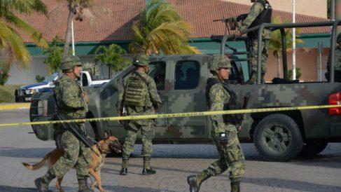 La presencia de las fuerzas federales de México en Cancún se ha incrementado a raíz de los repuntes violentos de los cárteles de la droga. Foto: AFP