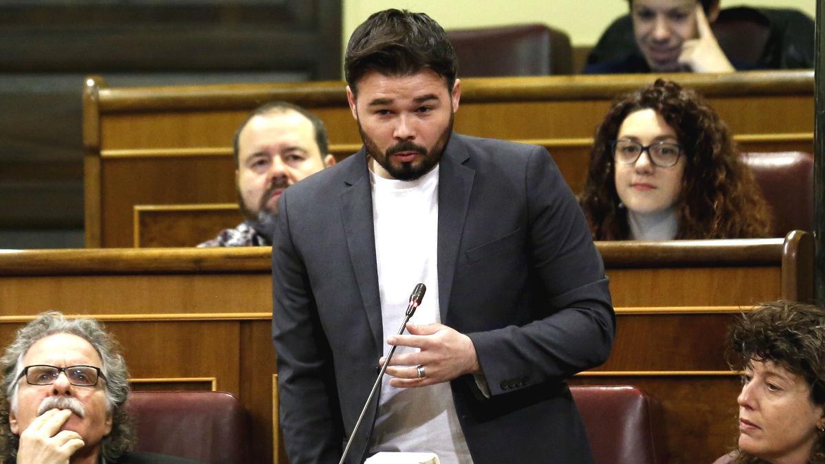 El portavoz adjunto de ERC en el Congreso, Gabriel Rufián (Foto: Efe)