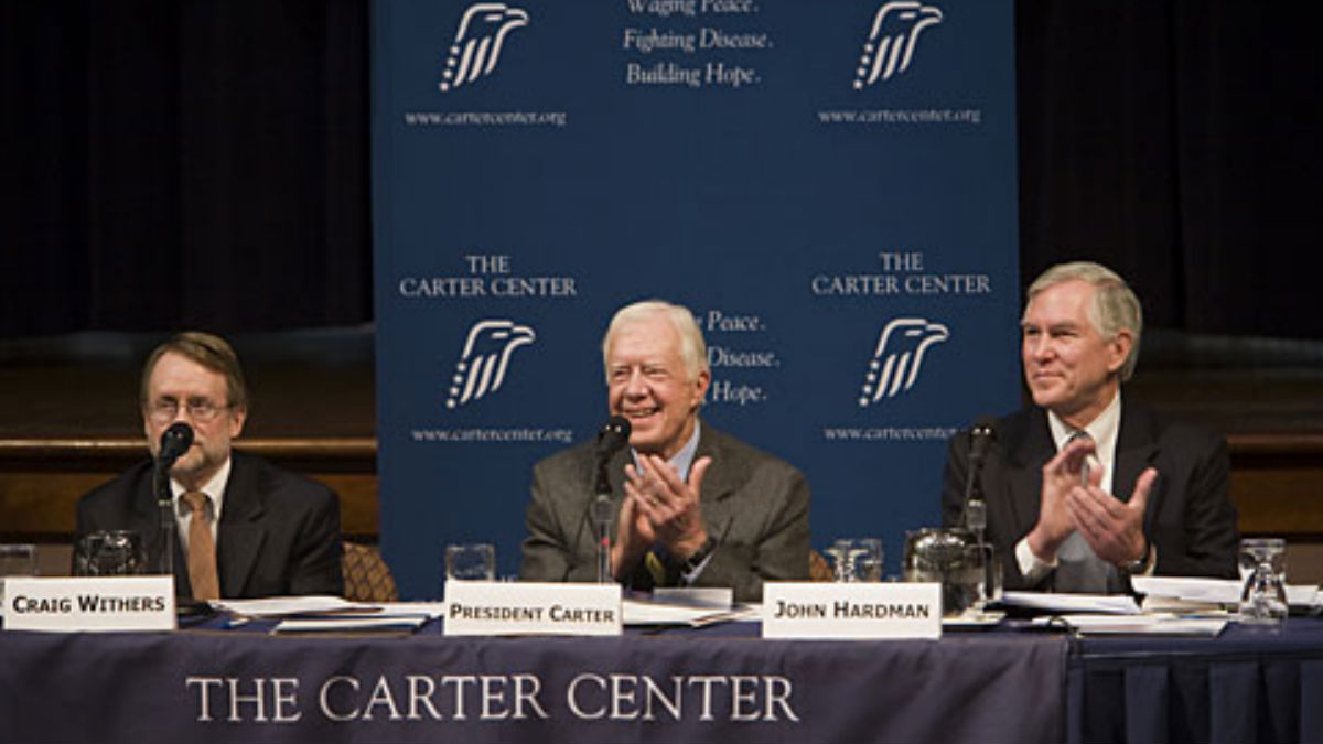 El expresidente de EEUU Jimmy Carter.