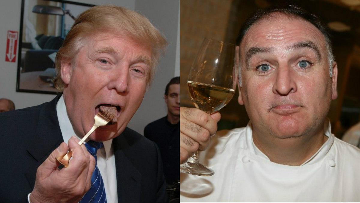 El presidente de EEUU, Donald Trump, y el chef español José Andrés.