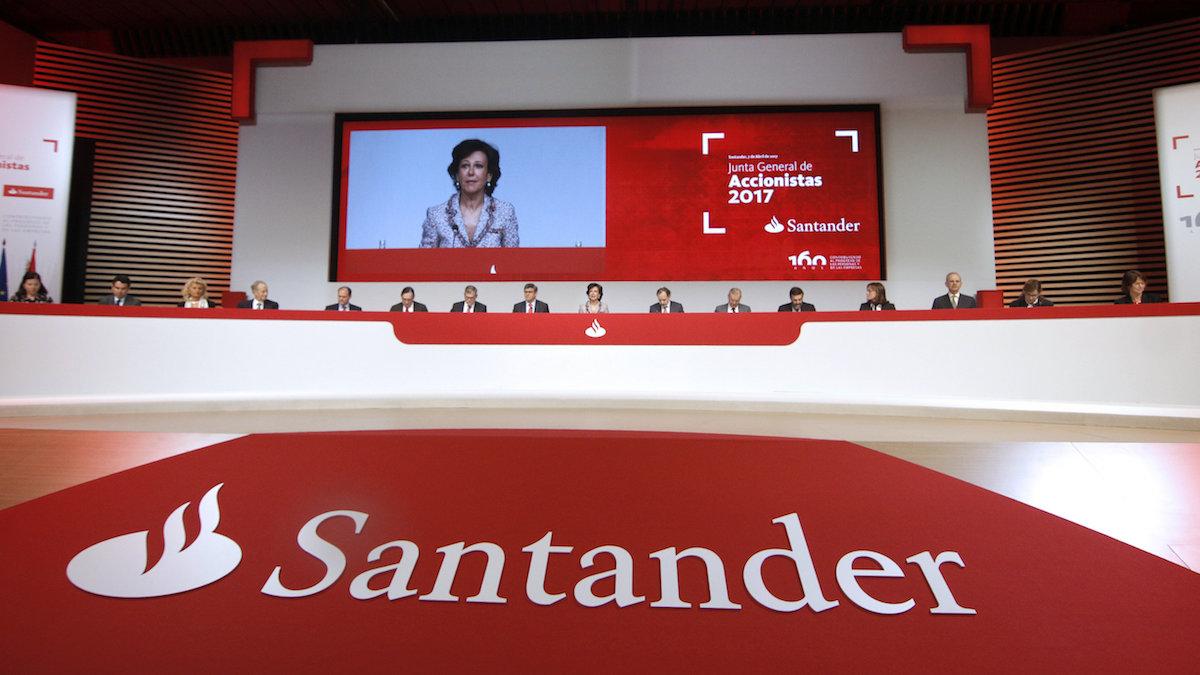 Junta General de Accionistas del Santander. (Foto: EFE)