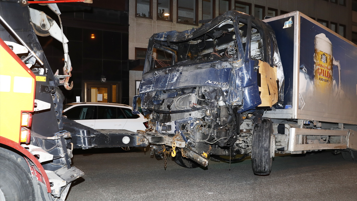 Camión con el que el Estado Islámico atentó en Estocolmo. (Foto: AFP)
