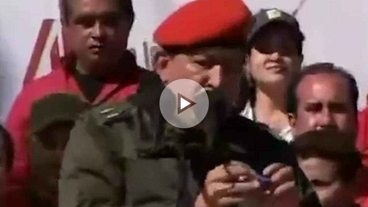 El ex presidente de Venezuela Hugo Chávez en su programa de Tv 'Aló Presidente'.