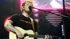 Ed Sheeran durante el concierto (Foto: Efe).