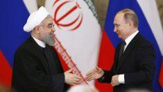 Hasan Rohani y Vladimir Putin. (Foto: AFP)
