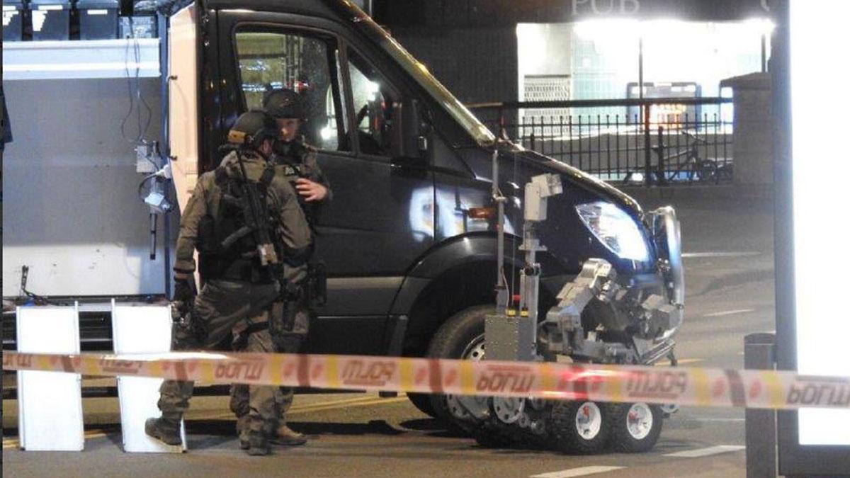 Artificieros desactivan una bomba en Oslo.