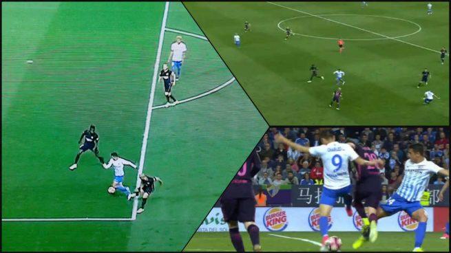 Gil Manzano anuló un gol legal al Málaga y 'birló' un penalti a cada equipo