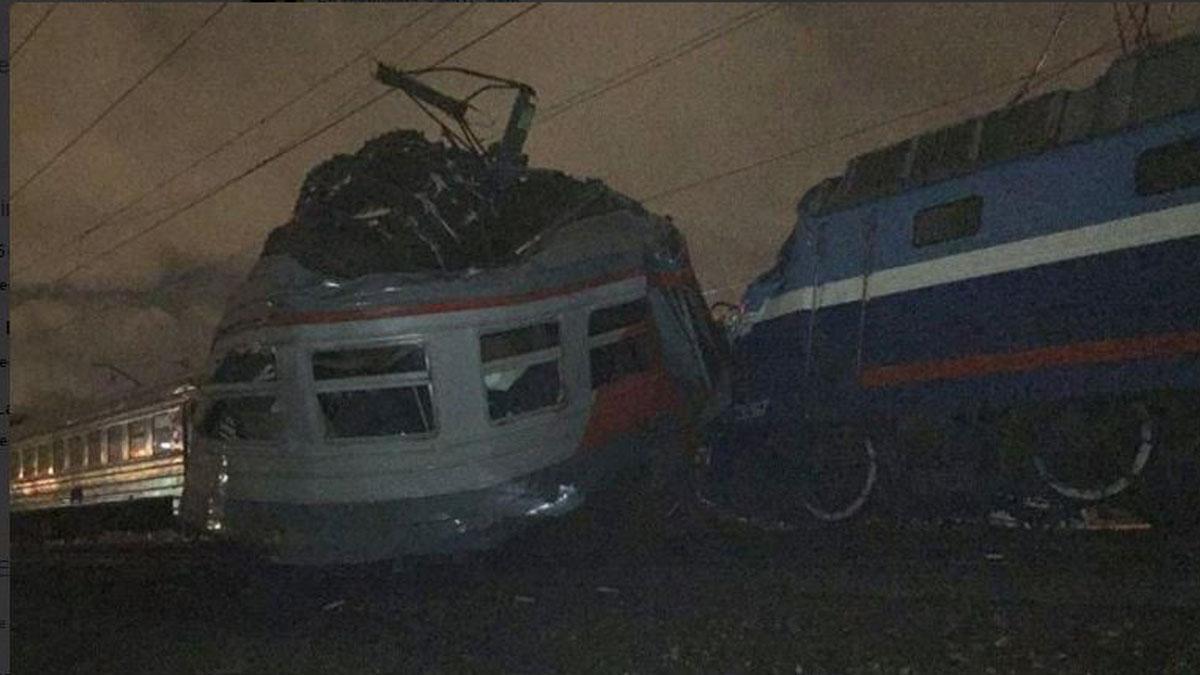 Choque de trenes en Moscú.