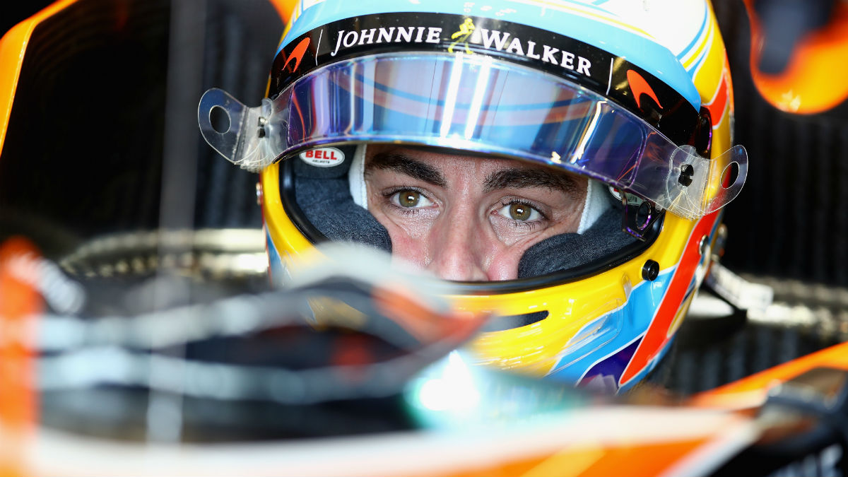 Fernando Alonso, en el GP de China. (Getty)