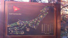 Mapa del campo de golf de Banco Santander.