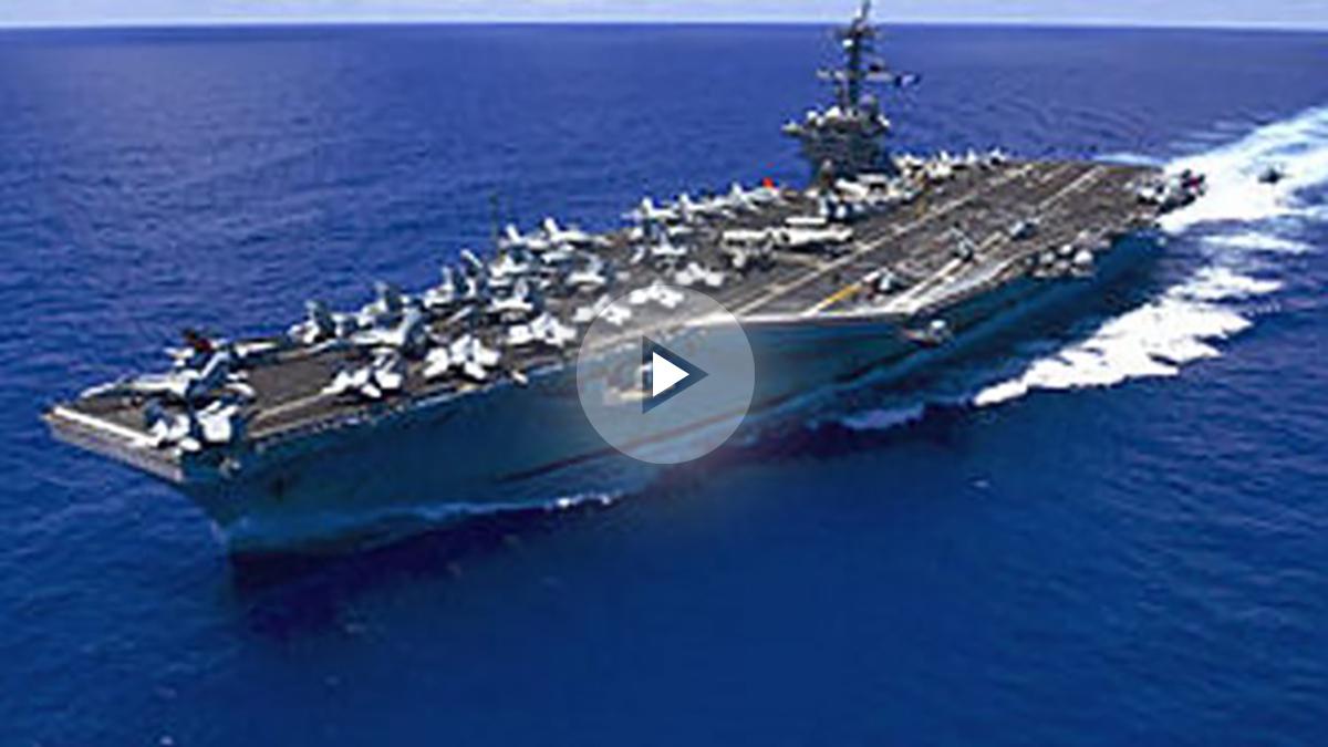 El Carl Vinson se dirige hacia Corea del Norte.