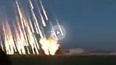 Bombas incendiarias de la aviación rusa sobre Idlib y Hama.