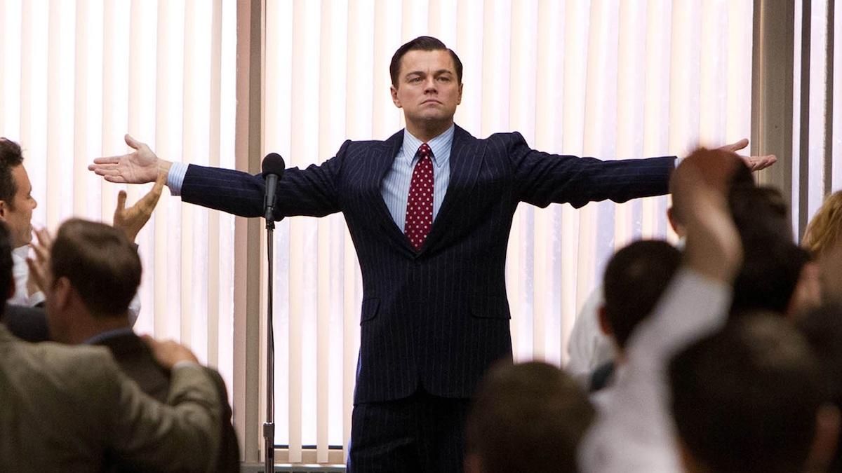 Fotograma de la película «El lobo de Wall Street»