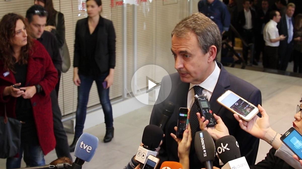 El ex presidente del Gobierno, José Luis Rodríguez Zapatero, expresa sus condolencias por la muerte de Carme Chacón