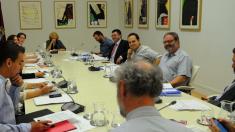 La alcaldesa en imagen de archivo en una reunión únicamente con los concejales de la Junta de Gobierno. (Foto: Madrid)