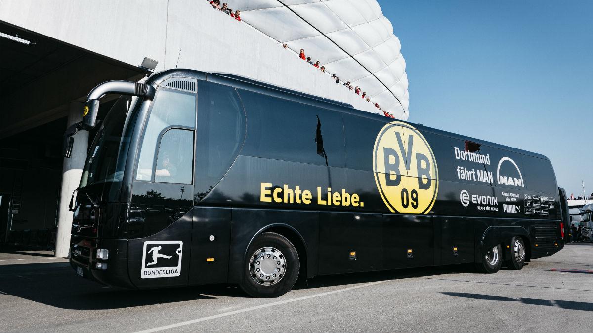Autobús del Borussia Dortmund. (Getty)