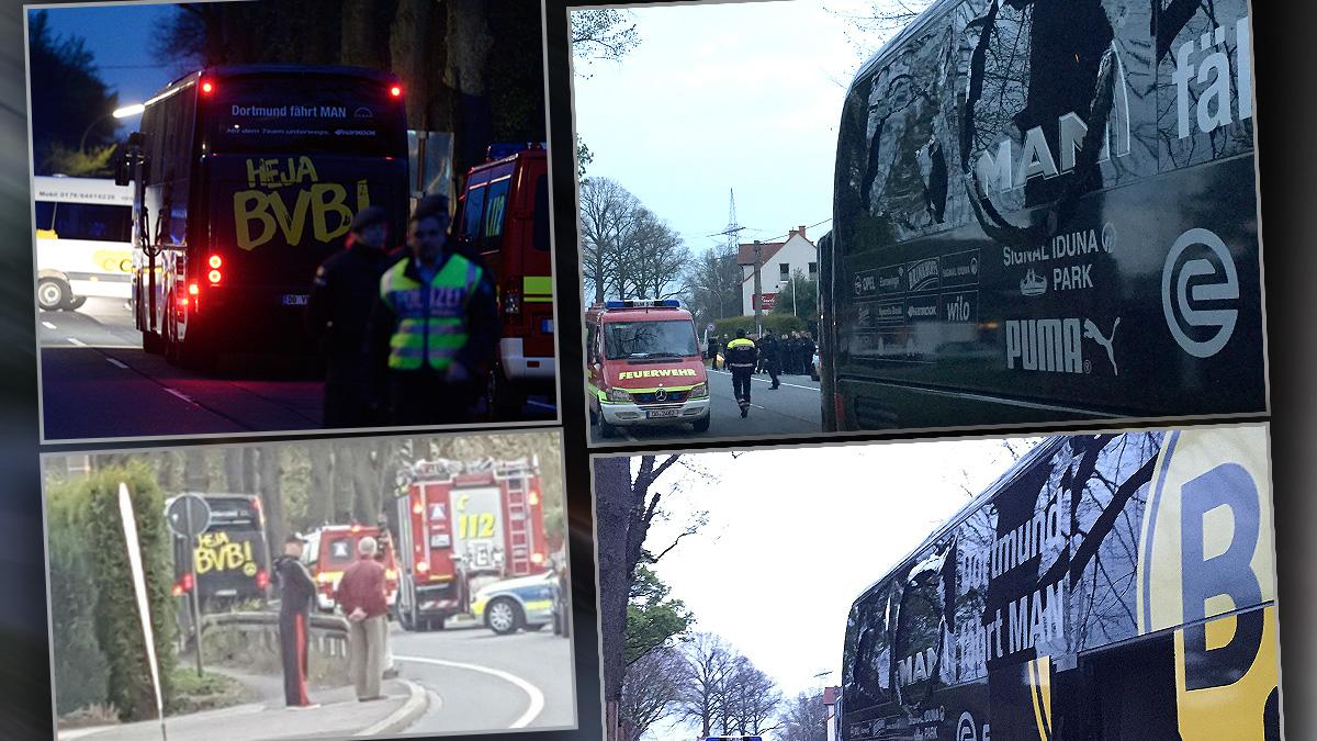 El autobús del Dortmund sufrió un incidente de camino al estadio.