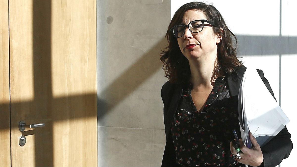 La portavoz del grupo parlamentario de Podemos  en Navarra, Laura Pérez (Foto: Efe)