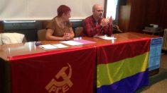 El nuevo cargo de confianza de Ciudadanos en León, Sebastián Freijomil Viña, en un acto organizado por el PCE.