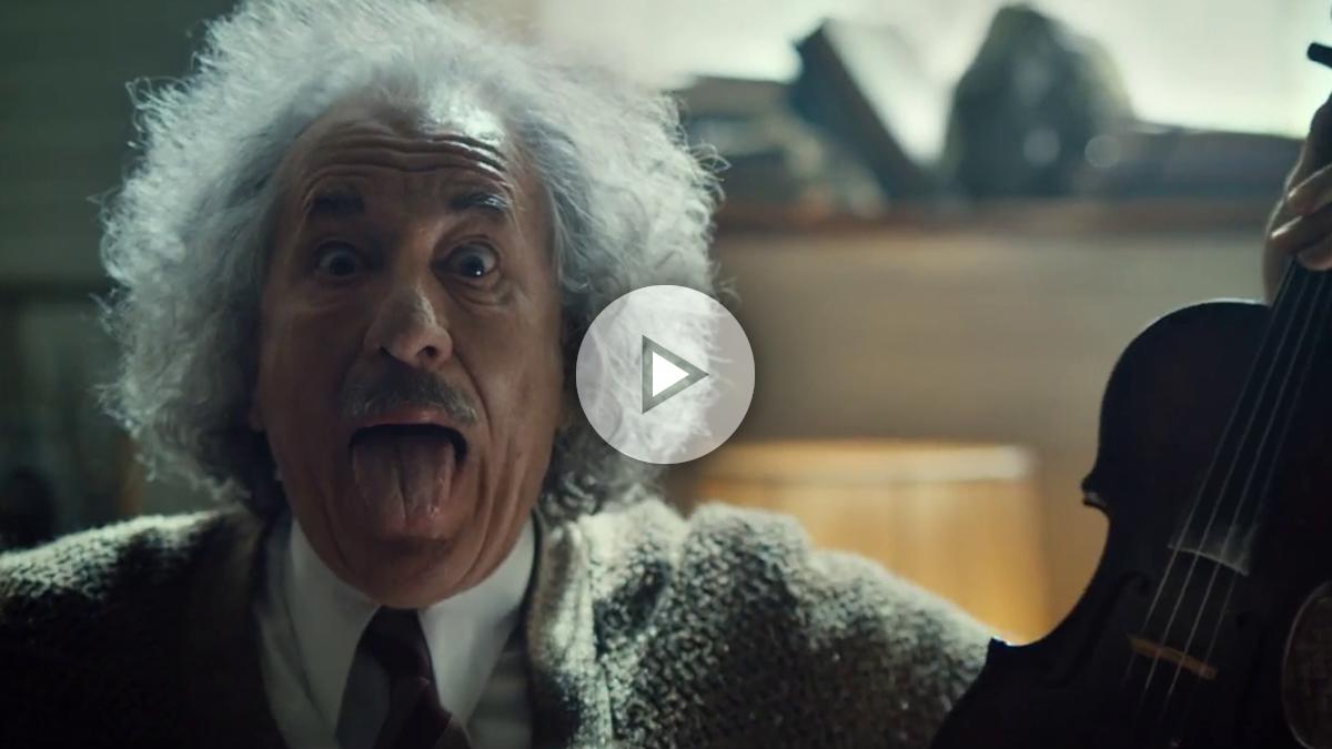 Geoffrey Rush caracterizado como el famoso científico ALbert Einstein en 'Genius'.