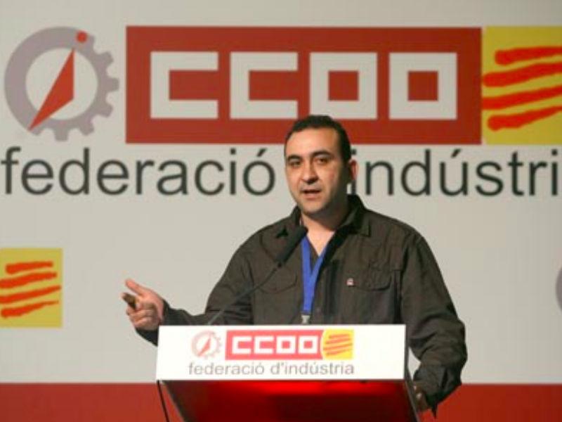 El nuevo secretario general de CCOO en Cataluña, Javier Pacheco. (Foto: CC.OO)