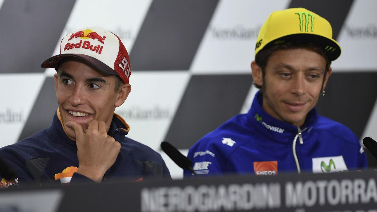 Marc Márquez celebra la reconciliación con Valentino Rossi, al menos en lo que se refiere a lo profesional, porque considera que nunca será amigos.