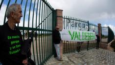 Parque 'Felipe VI' rebautizado como 'Valdebebas'. (Foto: asociación de Vecinos Cárcavas-San Antonio)