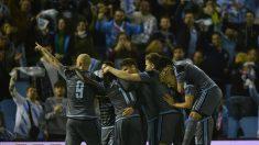 Los jugadores del Celta celebran un gol. (AFP)