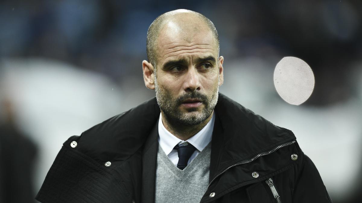 Guardiola, en un partido del Manchester City. (AFP)