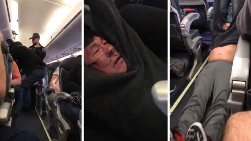 Pasajero de United Airlines sacado a la fuerza (Foto: Youtube)
