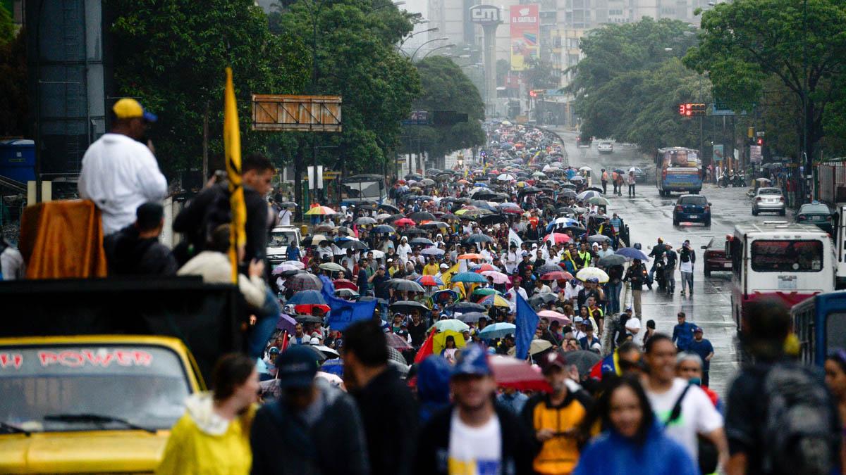 Nueva jornada de protestas en las calles de Caracas (AFP)
