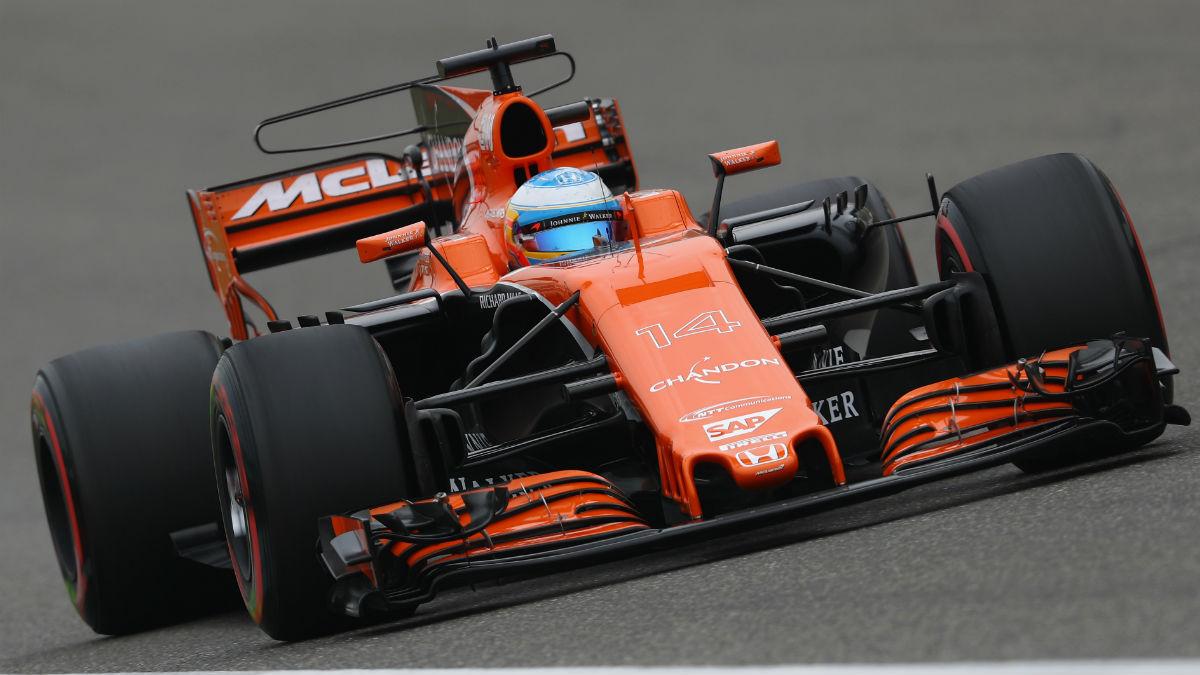 El motor Honda del McLaren de Alonso presenta ciertos avances en lo que a fiabilidad se refiere de cara al Gran Premio de Bahrein. (Getty)