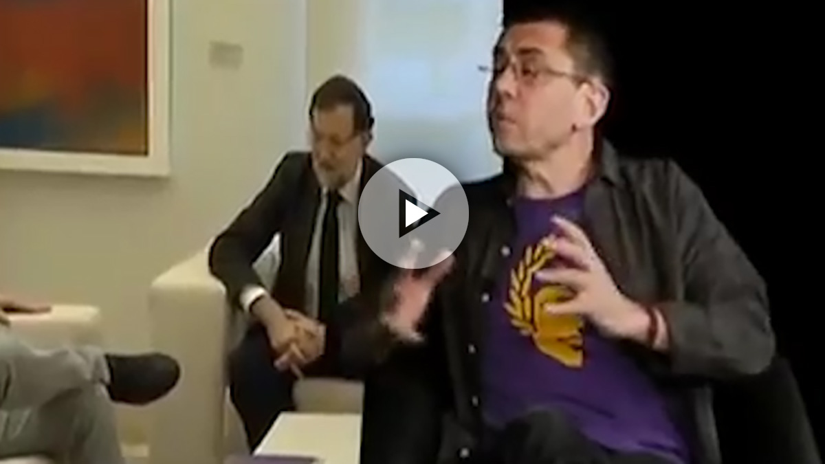 Juan Carlos Monedero en la entrevista emitida por la TV chavista TeleSur.