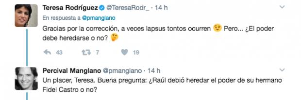 Zasca de Percival Manglano a la líder de Podemos en Andalucía, Teresa Rodríguez