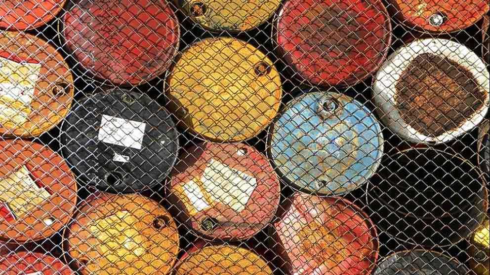 Barriles de petróleo.