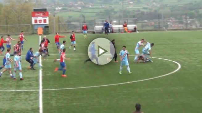 Lamentable pelea entre cadetes del Rayo y el Sporting