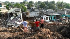 Imagen del vertedero cuyo derrumbe ha provocado 23 muertos (Foto: AFP).