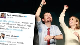Los divertidos tuits intercambiados por los diputados de Unidos Podemos Pablo Iglesias y Tania Sánchez en junio de 2012.