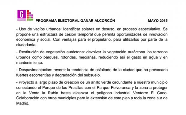 Pantallazo Programa Ganar Alcorcón.