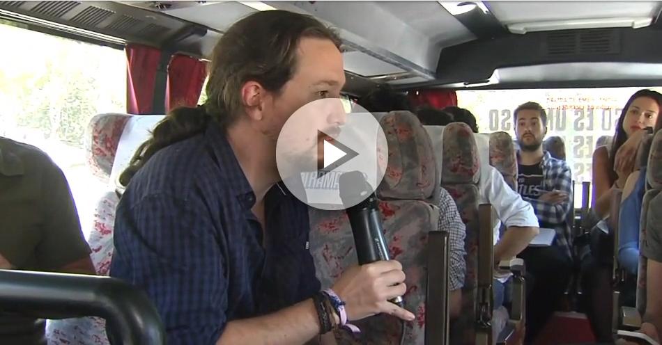 Pablo Iglesias responde acerca de Inda en el Tramabús-PLAY