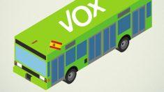 Primera imagen del autobús de VOX. (Foto: Twitter)