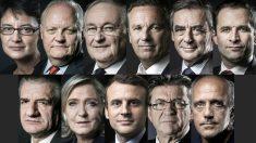 Todos los candidatos a la Presidencia de Francia. (Foto: AFP)