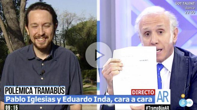 Iglesias se queda sin palabras cuando Inda le enseña la sentencia sobre los 272.325$ que le dio el dictador Maduro
