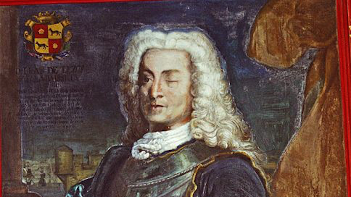 El almirante español, Blas de Lezo.