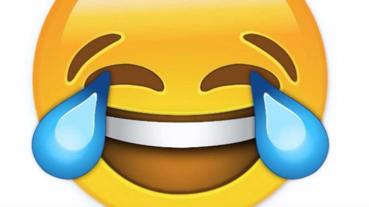 Emoji llorando de risa