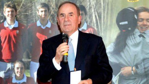 El empresario Joaquín Molpeceres, en un acto organizado por la Federación de Golf de Madrid.