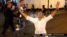Álvaro Ojeda celebrando el pase del Real Madrid a semifinales